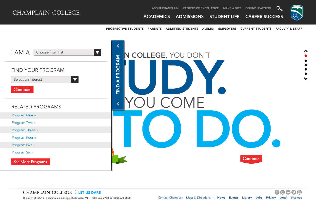 Champlain College Website