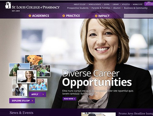 St. Louis College of Pharmacy Website