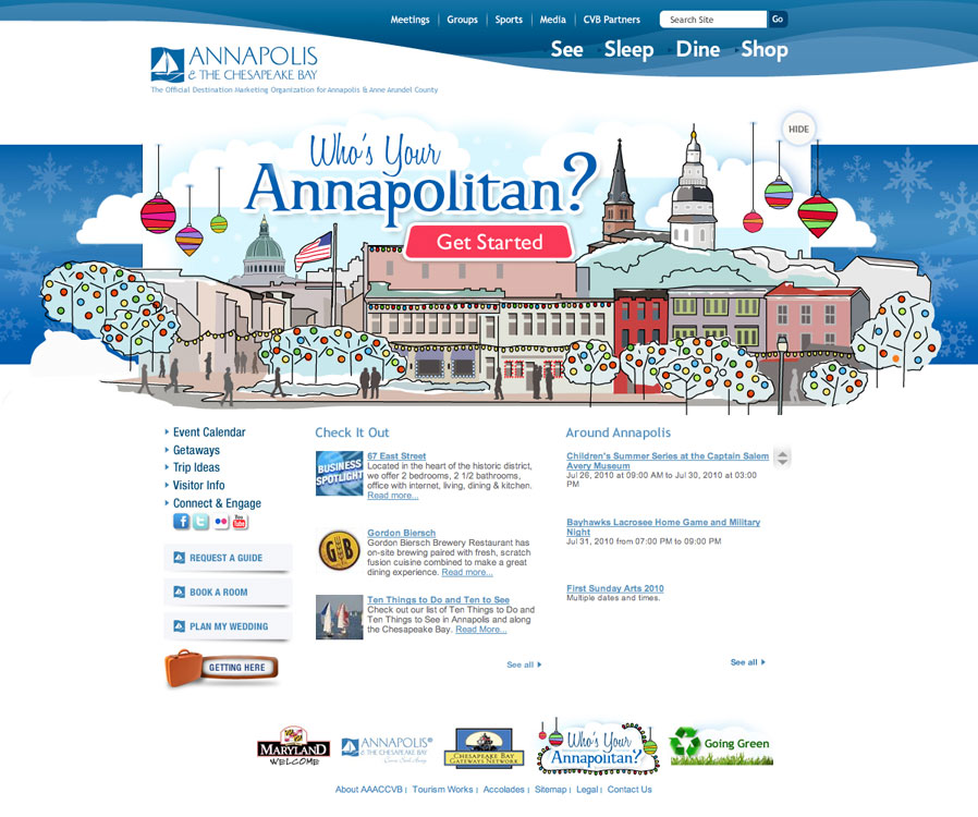 Annapolis Tourism Website - Annapolitan