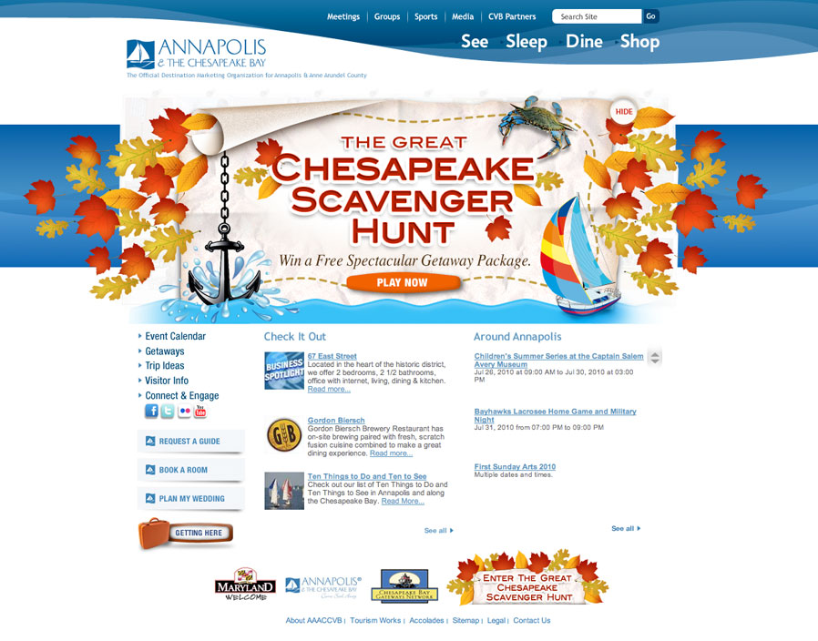 Annapolis Tourism Website - Fall