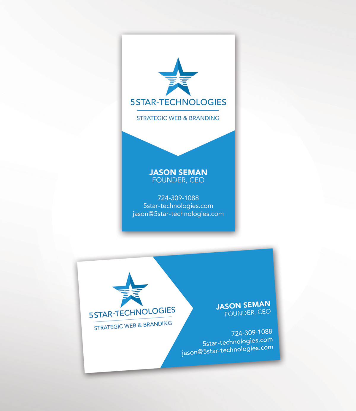 5 Star Technologies Business Cards