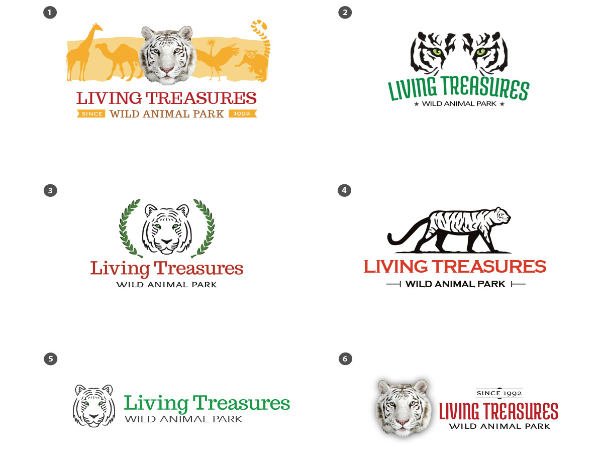 Living Treasures Wild Animal Park, Logo Choices