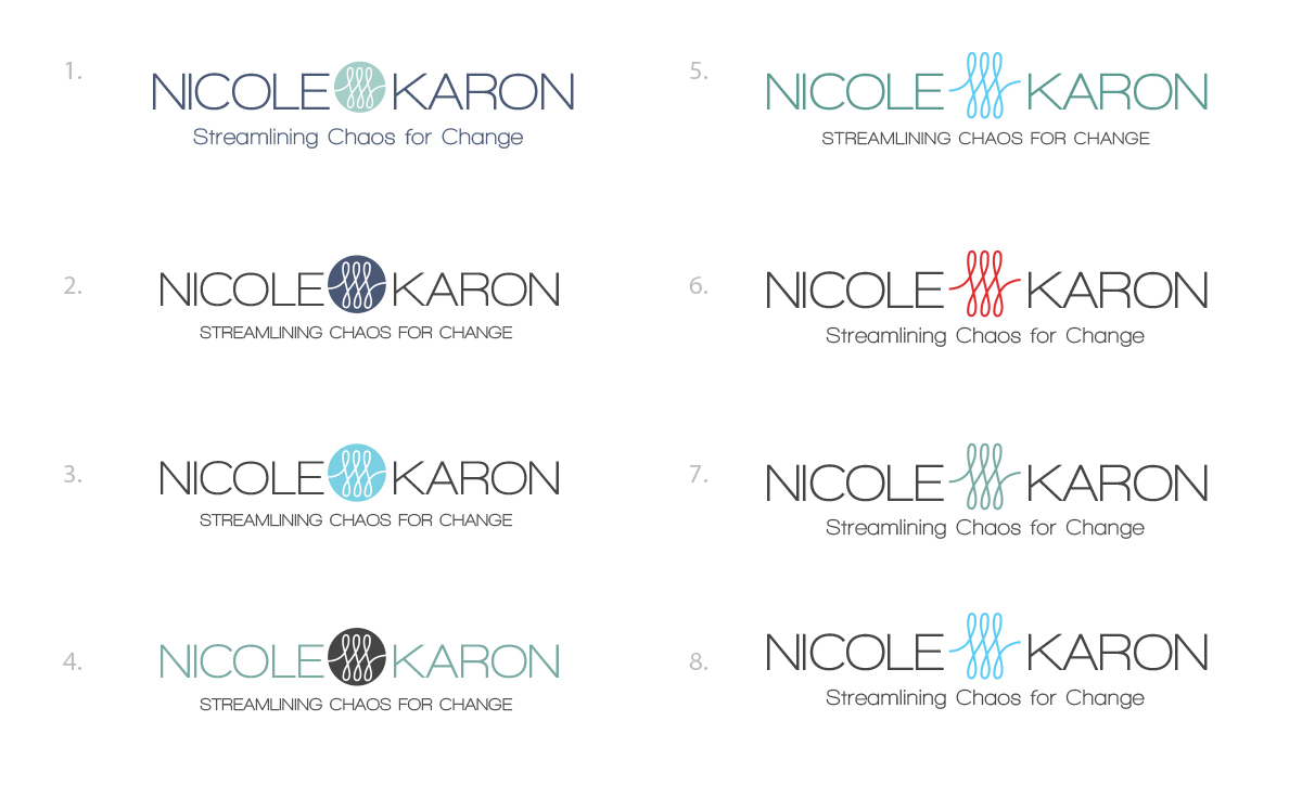 Nichole Karon Logo - Color Choices