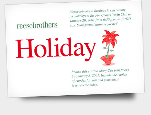 Reese Brothers Holiday Invite