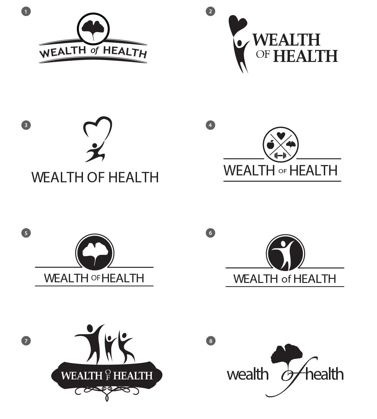 Wealth of Health Logo Choices