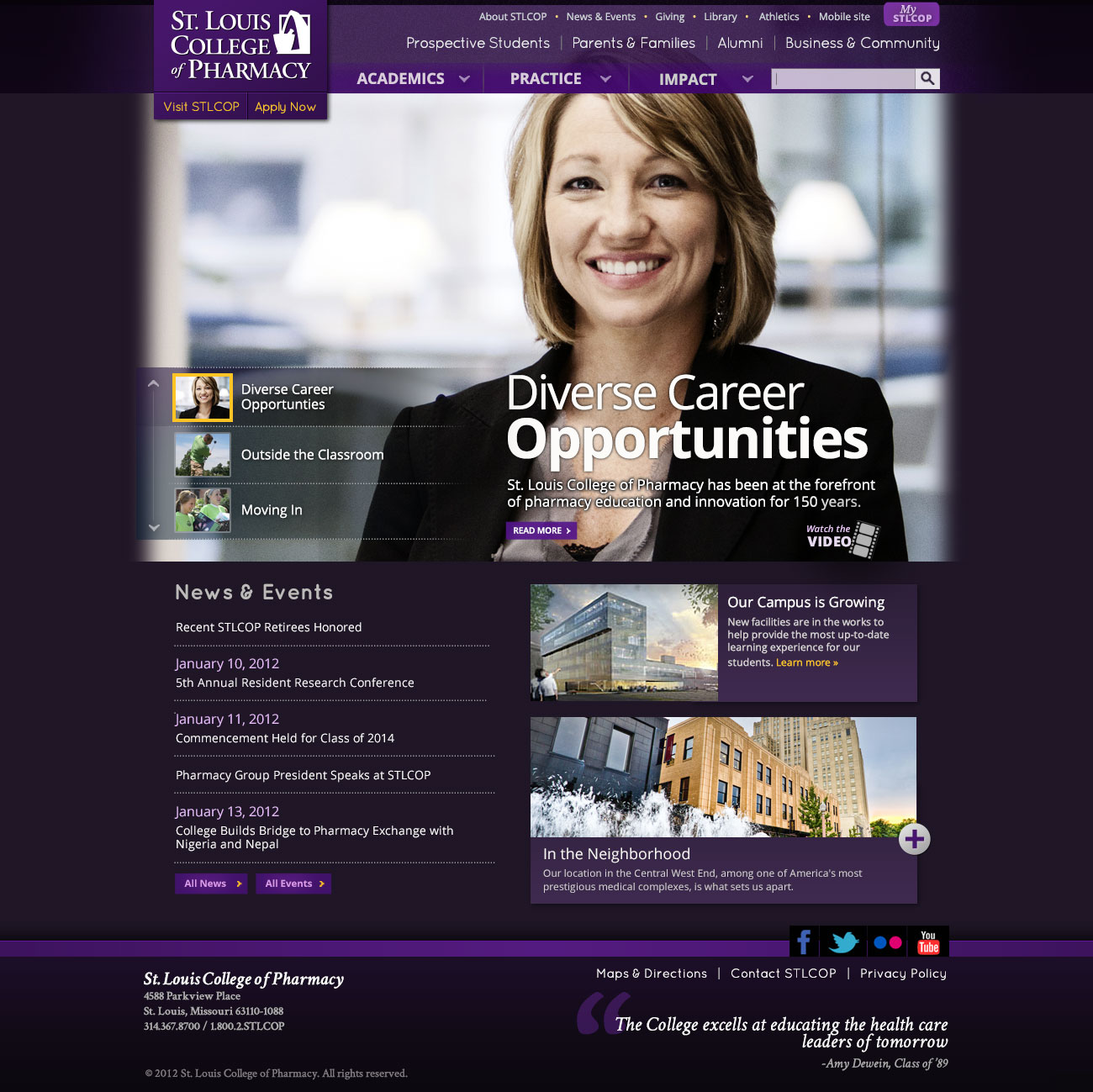 St. Louis College of Pharmacy — Homepage