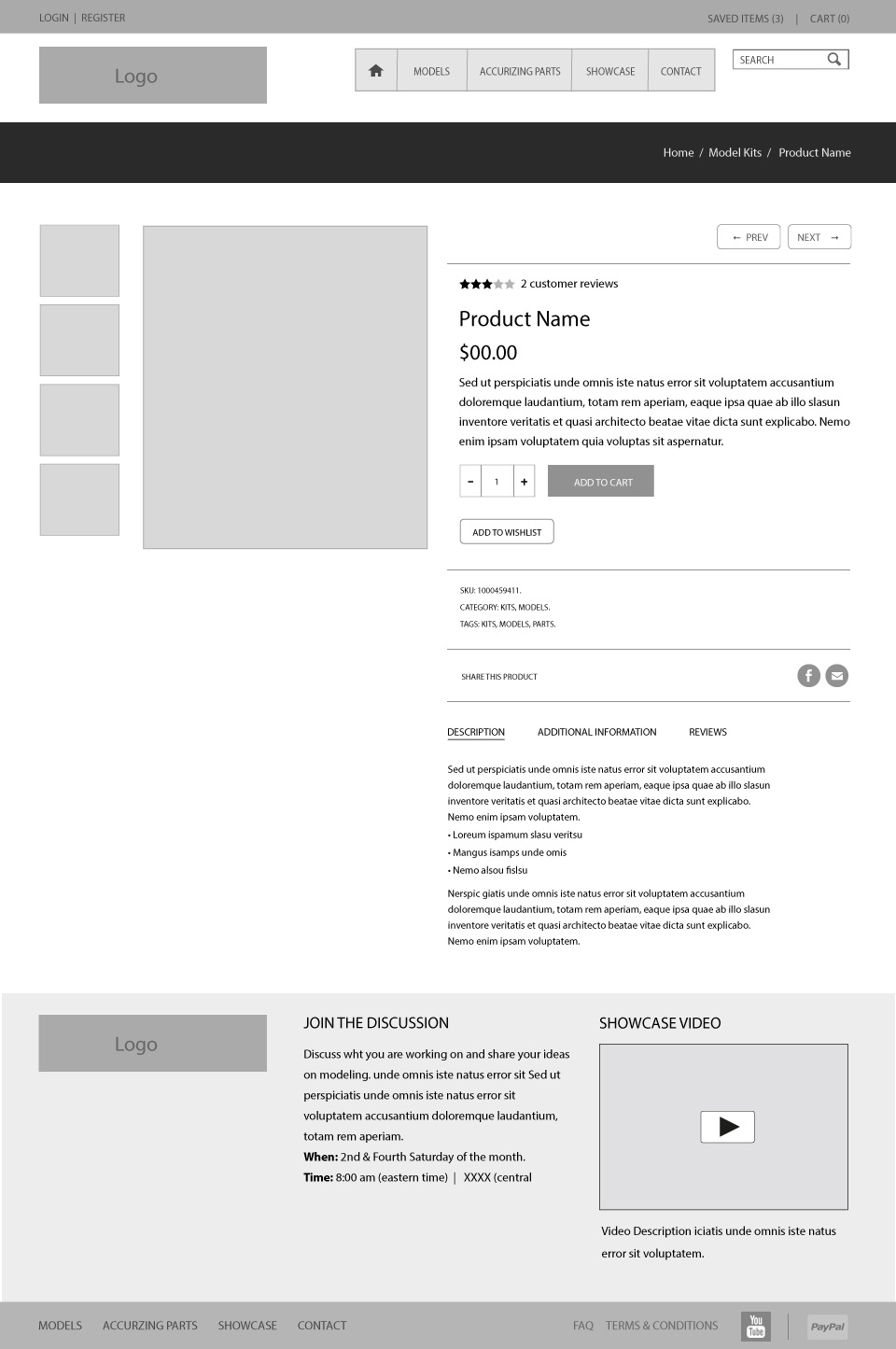 Before After Detail Page Wireframe