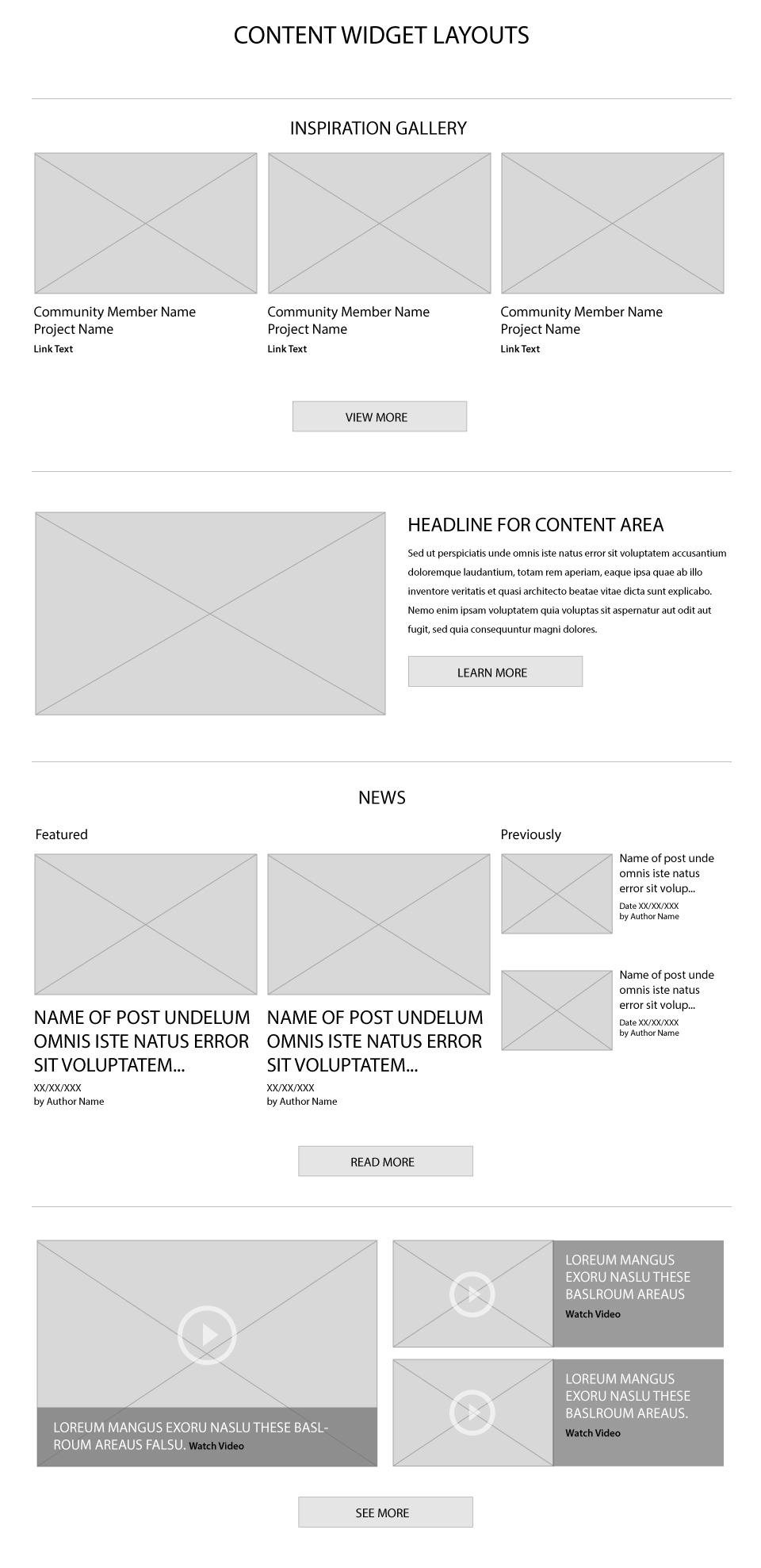 BeforeAfter Homepage Widgets