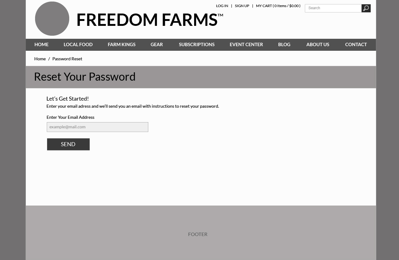Freedom Farms E-commerce