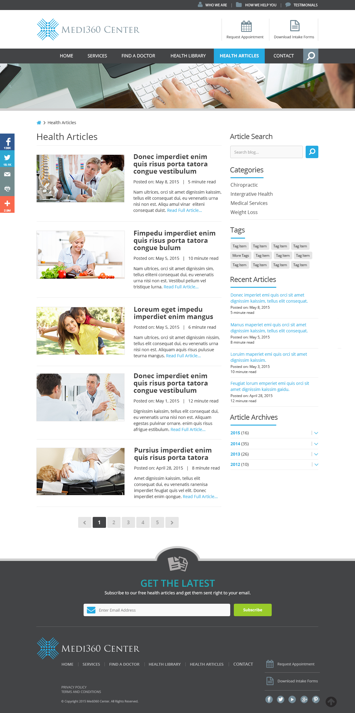 Medi360 Center Health Articles