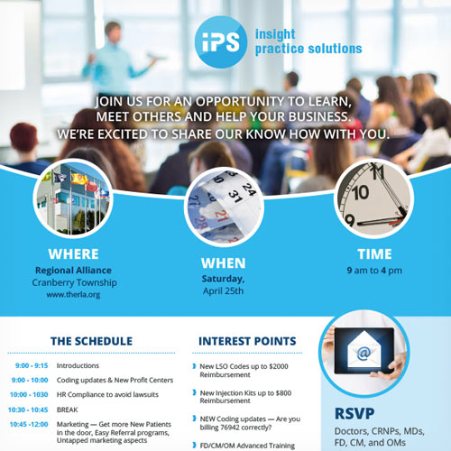 Insight Practice Solutions Seminar Flyer