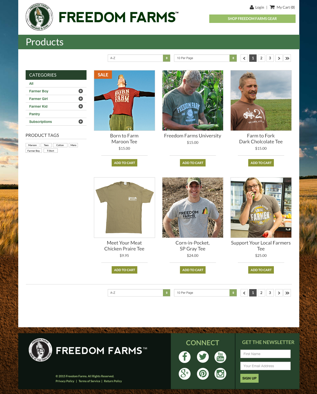 Freedom Farms E-commerce Products