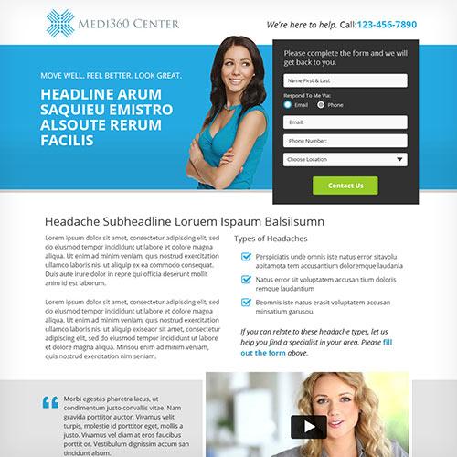 Medi360 Center Landing Page