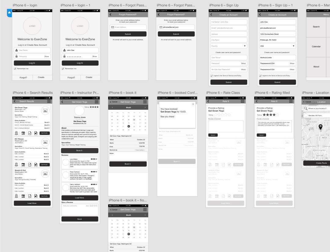 Exerzone Prototype Layout