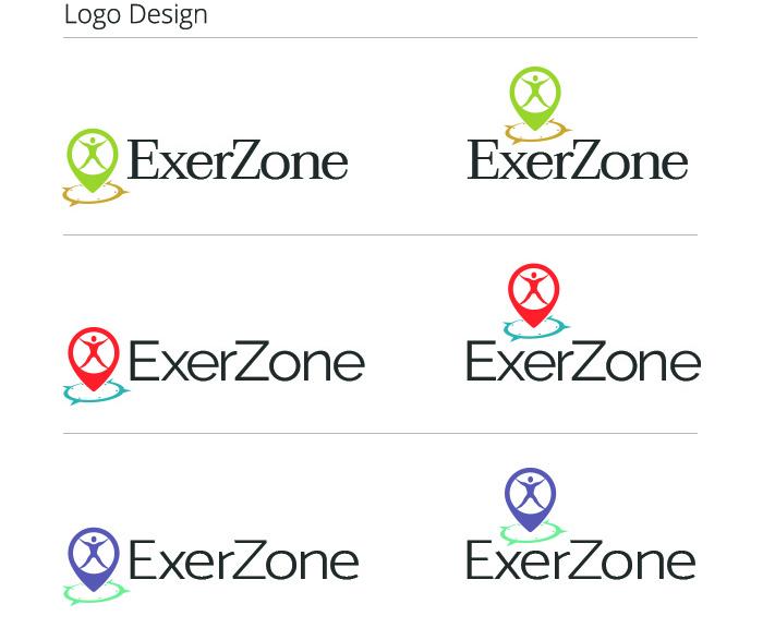 ExerZone Logo Design